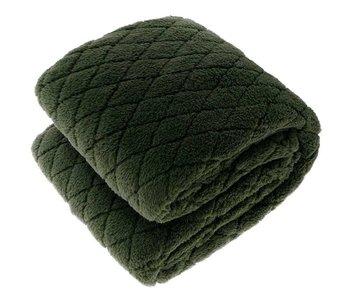 Plaid Ezra 150x200 cm - donker groen