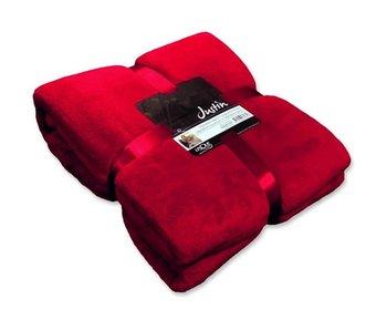 Plaid Justin 150x200 cm - rouge