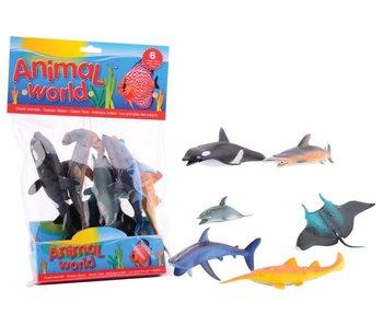 Animal World oceaan dieren  - 6 dieren in een zak