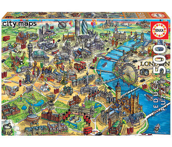 Educa Puzzel Educa Kaart van London - 500 stukjes