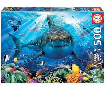 Educa Puzzel Grote witte haai - 500 stukjes