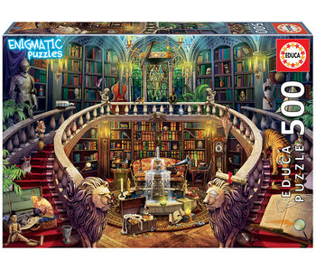 Educa Puzzel Bibliotheek -Enigmatic Puzzles - 500 stukjes