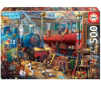 Educa Puzzel Station - Enigmatic Puzzles - 500 stukjes