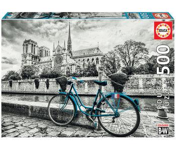 Educa Puzzel Fietsen bij de Notre Dame - 500 stukjes