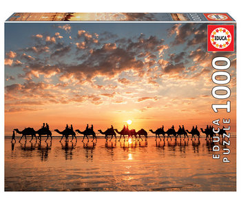 Educa Puzzel Gouden zonsondergang op Cable beach - 1000 stukjes