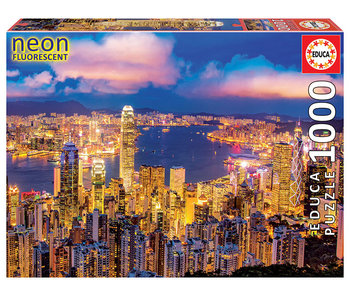 Educa Puzzel Neon, Hong Kong  - Glow-in-the-dark - 1000 stukjes