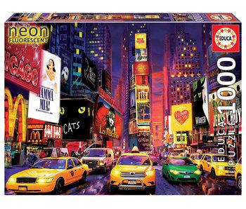 Educa Puzzel Neon, Time Square  - Glow-in-the-dark - 1000 stukjes