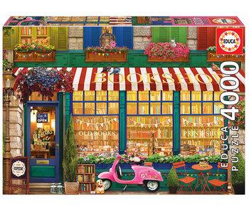 Educa Puzzel Vintage boekenwinkel - 4000 stukjes