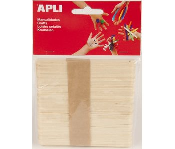 APLI Houten staafjes - naturelle 50stuks