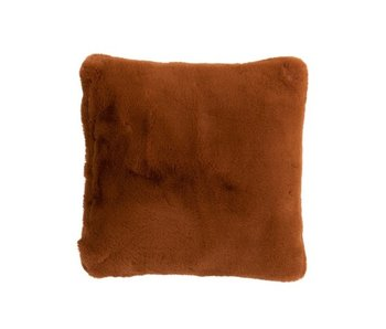 J-Line Kussen cutie bruin oranje 45x45 cm
