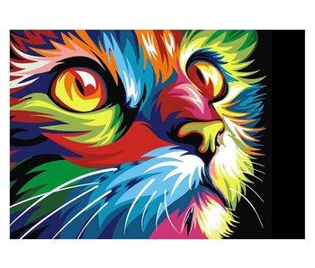 Dia paint WD200 - Rainbow cat 38x27 cm