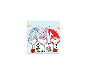 Dia paint WD2443 - Gnomes  38x38 cm