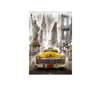 Dia paint WD2385 - New York Taxi 68x100 cm