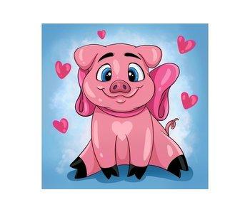 Dia paint WD2296 - Piggy in love 20x20 cm
