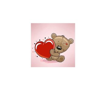 Dia paint WD2299 - Little bear's Heart 20x20 cm