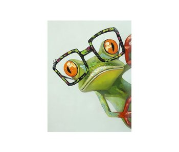 Dia paint WD2362- Frog witk Glasses 15x20 cm
