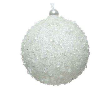 Kerstbal foam winterwit -  8cm