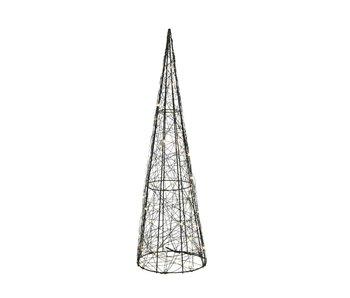 Micro LED cône 14xh30cm - blanc chaud