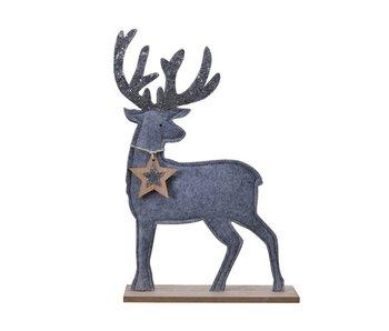 Hert in vilt - mistig grijs - 6x26x39.5