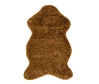 Tapijt camel kunstbont 50x90 cm