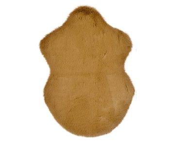 Tapijt kunstbont camel  - 38x55 cm