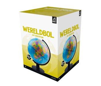 Wereldbol nederlands met verlichting - 25 cm diameter