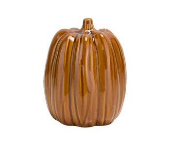 Pompoen pumpkin skin roest 12x12xh15.5 cm