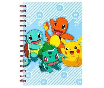 Pokemon notitieboekje A5 (spiraal - harde kaft)
