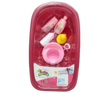 Baignoire pour poupées de 30 à 33 cm avec canard en caoutchouc et accessoires