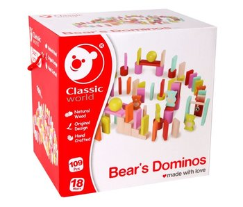 Classic Domino lettre d'amour ours