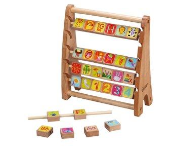 Classic Telraam alfabet abacus