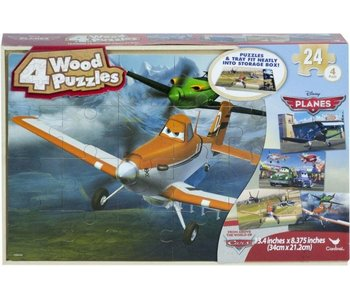 Avion - 4 puzzles en bois