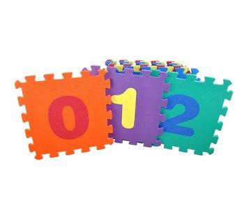 EVA cijfer puzzel mat - 10 tegels