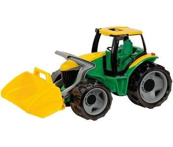 Tracteur avec pelle