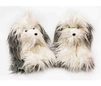 Hond harig zittend 25 cm - 1 stuk