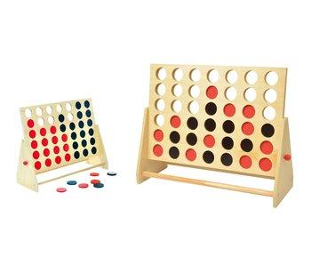 4 op een rij 60x48x22 hout