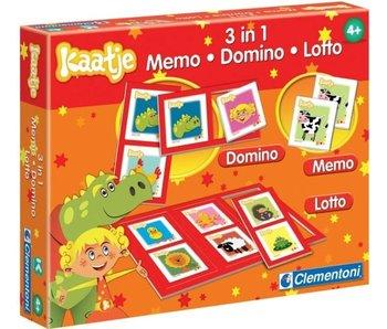 NL - Kit 3 en 1 Memo Domino Lotto Kaatje