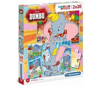 Puzzel Dumbo 2x20 stukjes