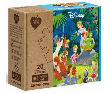 Puzzel Disney Jungle Book + Peter Pan - 2x20 stukjes