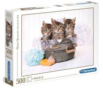 Puzzel HQC Kittens en zeep - 500 stukjes