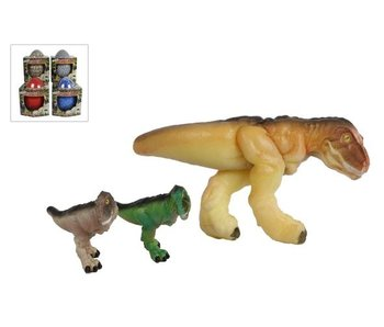 Dinoworld mega ei 20 cm met groeiende dino tot 50 cm 4 Ass.