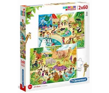 Puzzel Zoo - 2x60 stukjes