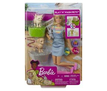 Barbie Spelen en Wassen Huisdieren