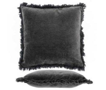 Kussen Mimmie 45x45 cm dark grey
