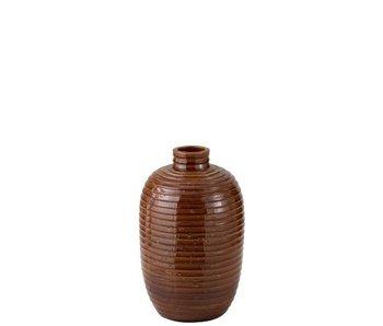 J-Line Vase Ethnique Céramique Marron S