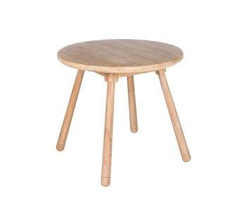 J-Line Table enfant ronde en bois naturel
