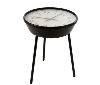 J-Line Table d'appoint Horloge Chiffres Arabes Métal Marron