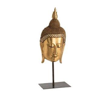 J-Line Boeddha Hoofd Voet Poly Goud