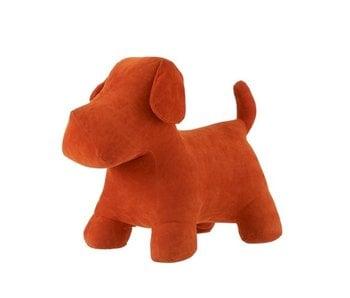 J-Line Hond Deco Mat Fluweel Oranje Large