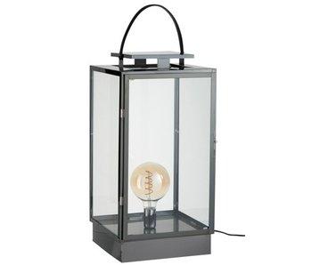 J-Line Lantaarn Lamp Metaal/Glas Zwart